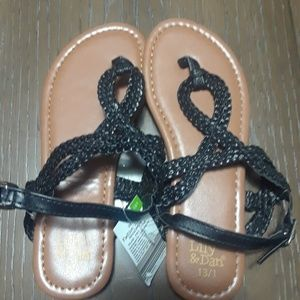 Other - Girls black gladiator sandal size 13/1
